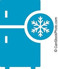 lodówka, wektor, ikona
