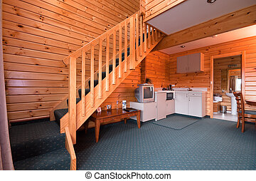 Lodge apartment interior. Fox Glacier Lodge, Fox Glacier, ...