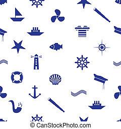 lodní, ikona, seamless, model, eps10