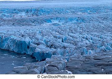 lodowiec, żywy, szorstki, lodowce, arctic.