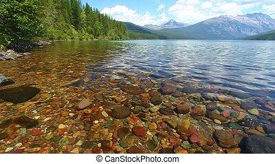lodowiec, -, narodowy park, kintla, jezioro