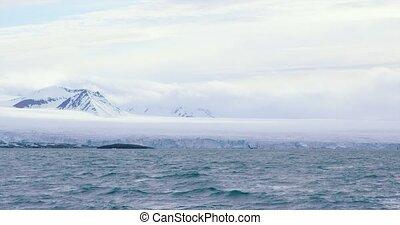 lodowiec, ruch, arktyka, powolny, masywny