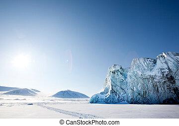 lodowiec, szczegół