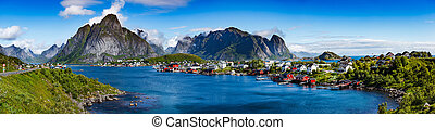 lofoten, archipel, panorama