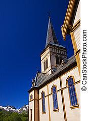 Lofoten cathedral close up