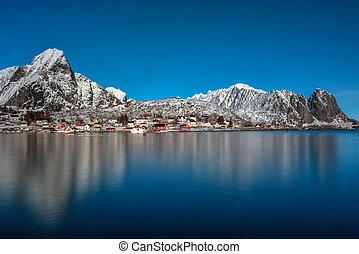 lofoten, noorwegen, eilanden, reine