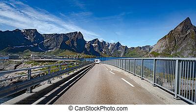 lofoten, nordland, archipel, graafschap, norway.