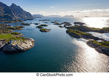 lofoten, nordland, archipel, henningsvaer, graafschap,...