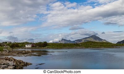 Lofoten view from Fredvang village - Lofoten time lapse from...