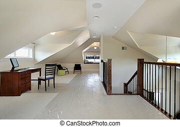 Loft in new construction home