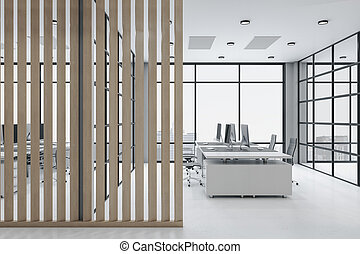 Loft style ceo interior with computer