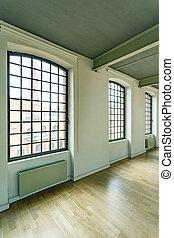 Loft windows in factory