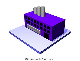 logística, cadena, suministro, objeto, fábrica, diagrama