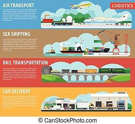 logística, despacho, vetorial, modelo, infographics, ...