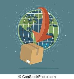 logística, global, conceito