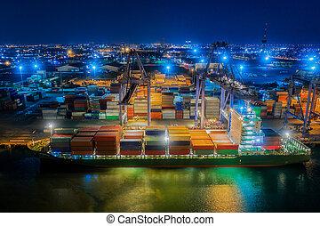 logístico, puerto