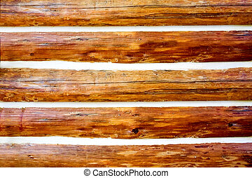 Log Background - A close up of a log home