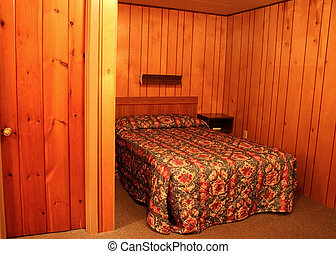 Log Cabin Bed Room