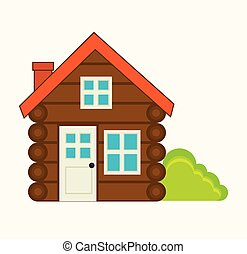 log cabin camping icon
