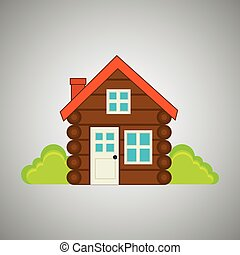 log cabin design - log cabin design, vector illustration...