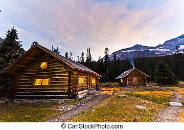 Log Cabin in Remote Wilderness