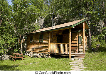 Log Cabin in the Black Hills of South Dakota.
