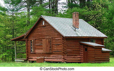 This cabin is one of several that are part of a Boy Scout camp that dates back to the 1930's. The campground has recently been acquired by the town and restored for public use.