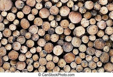 Cut log ends background texture