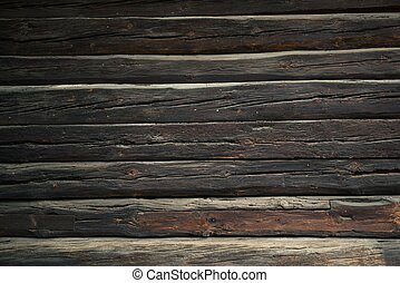 Log Home Wall Background. Vintage Logs Backdrop.