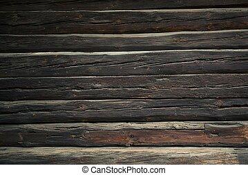 Log Home Wall Background