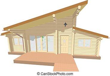 log house facade