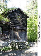 Log House - A log house detail at the folk museum in Oslo...
