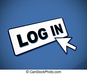 Log-in box and arrow - Illustration of simulated computer ...