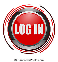log in glossy icon