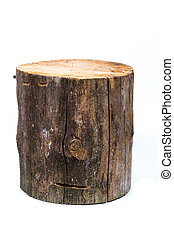 log isolated on a white background - Wood log isolated on a...