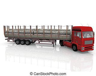 Log loader semi truck