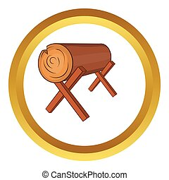 Log stand vector icon