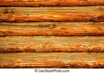 Brown log wall is texture