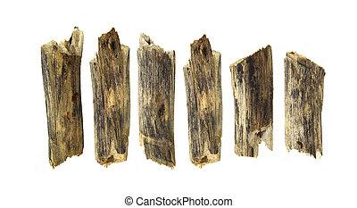 log wood isolated on white