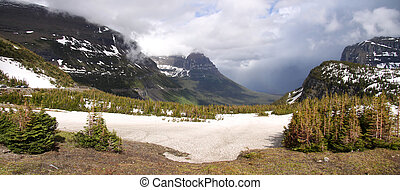 Logan pass - Scenic Logan pass in the middle of Glacier...