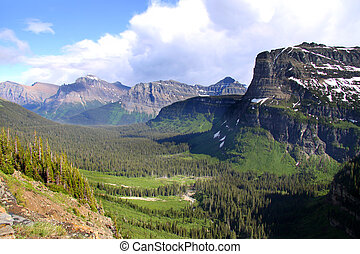 Logan pass - Scenic Logan pass in Glacier national park