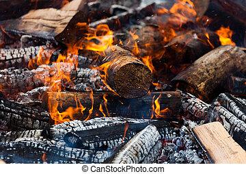 logboek, burning