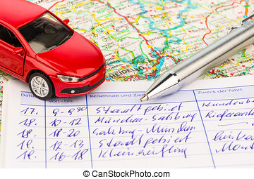 logbook for car - log book for a car. for commuters and tax...