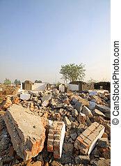 logement, matériels, démolition