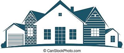 logement, symbole, business