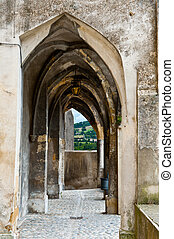 Loggia in City of Crest, France, Region Rhone-Alpes, Drome...
