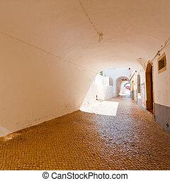 Loggia in Medieval Portuguese City of Logos