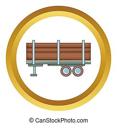 Logging truck  icon