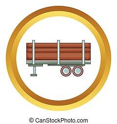 Logging truck vector icon
