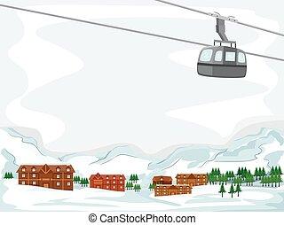 logia, esquí, plano de fondo